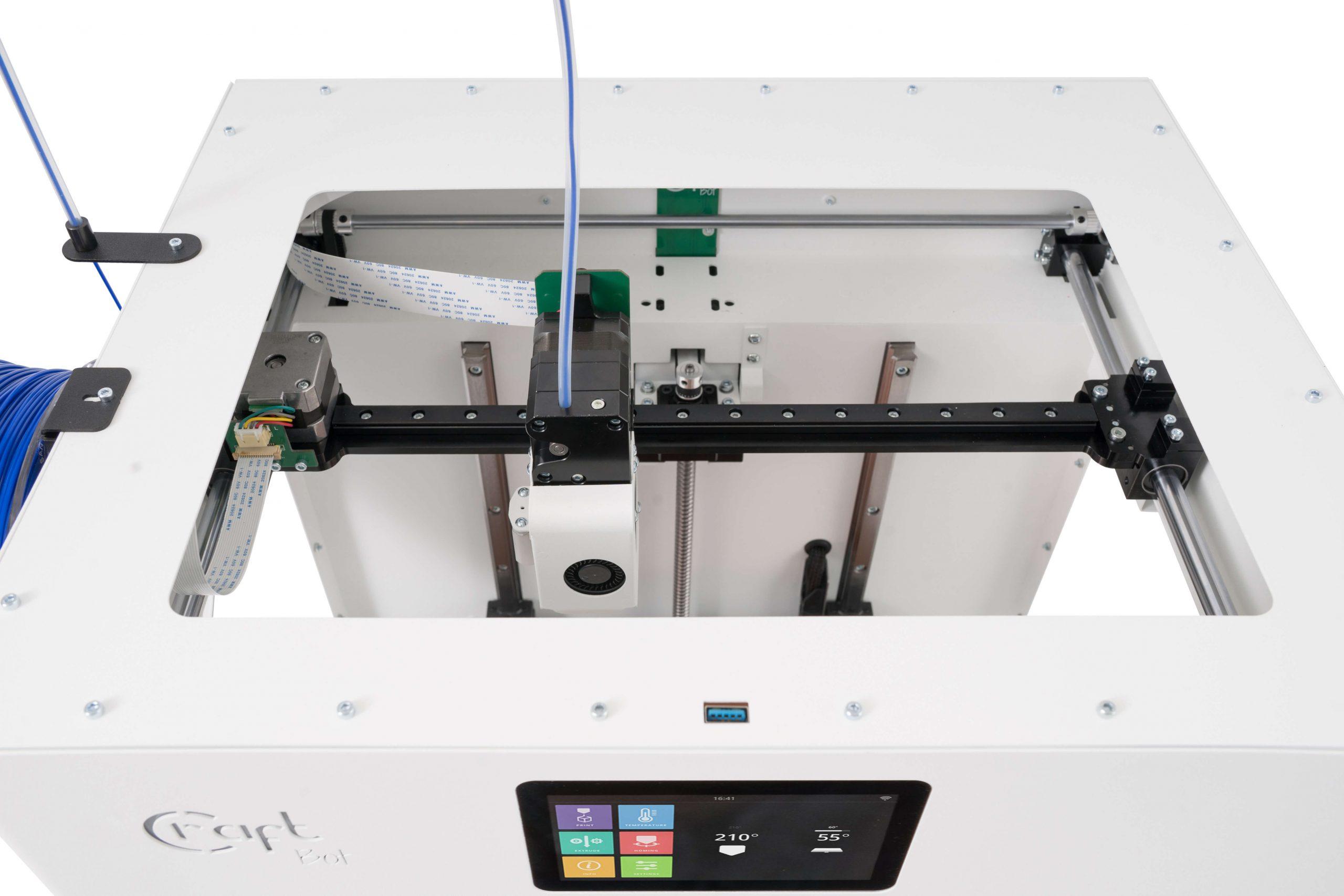 craftbot-flow-3D nyomtató-felülről-Budapest-teszt-ár-3Dee